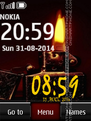 Zippo Digital Clock 01 tema screenshot
