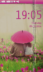 Romantic Day tema screenshot