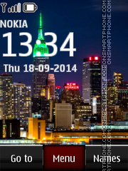 Bright Night City tema screenshot