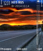 Скриншот темы To Sunset