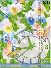 Flowers Butterflies theme screenshot