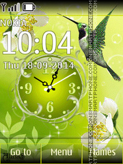 Spring Clock 02 theme screenshot