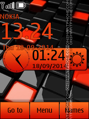 Orange tile clock theme screenshot