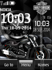 Harley Davidson Dual Clock theme screenshot