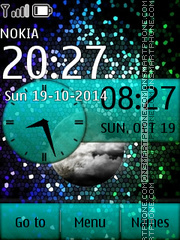 Stars with Analog Clock theme screenshot