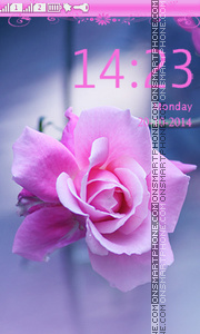 Pink Rose theme screenshot