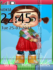 Cute Doll 12 theme screenshot