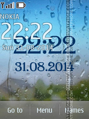 Rain Clock theme screenshot