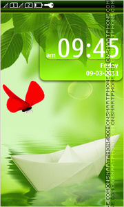 Red butterfly 01 tema screenshot