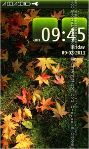 Leaf fall 01 theme screenshot