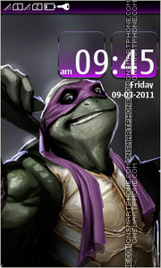 Teenage Mutant Ninja Turtles tema screenshot