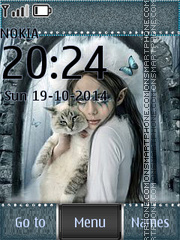 My girlfriend loves cats tema screenshot