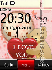 Love Dual Clock 05 theme screenshot