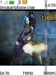 League of Legends Jinx theme screenshot