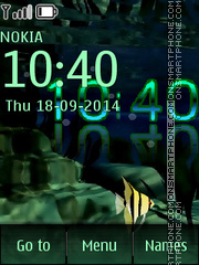 Underwater world Clock theme screenshot