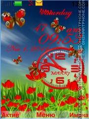 Скриншот темы Flowers and Butterflies