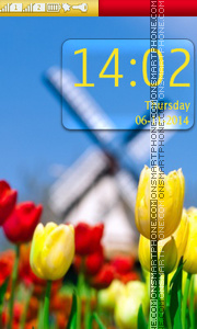 Yellow & Red Tulips theme screenshot