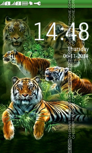 Tigers Collage theme screenshot