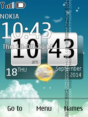 Sky Desire Big Clock theme screenshot