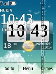 Скриншот темы Sky Desire Big Clock