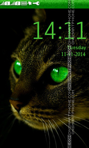 Cat with Green Eyes theme screenshot