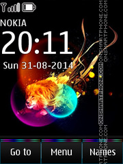 Abstract Lion 04 theme screenshot