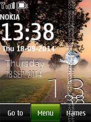Fog in Village Live Clock theme screenshot