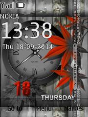 Red leaves 02 theme screenshot