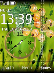 Currant with Clock Theme-Screenshot