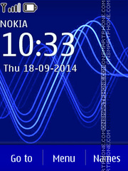 Blue Wave 07 theme screenshot
