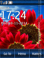 Скриншот темы Flowers Gerbera From Field