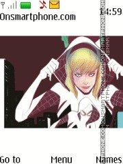 Gwen Stacy Spiderman theme screenshot