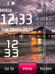 Maldives Sunset Live Clock tema screenshot