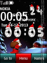 Christmas Digital Clock theme screenshot