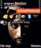 2Pac 03 theme screenshot