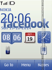 Facebook 13 theme screenshot