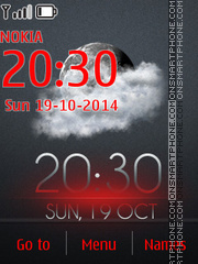 Luminescent Clock theme screenshot