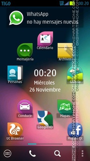 Jolla Andro Fusion theme screenshot