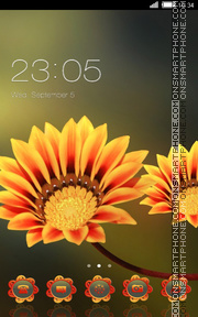 Beautiful Flowers tema screenshot