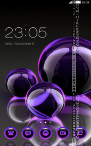 Glass Ball tema screenshot