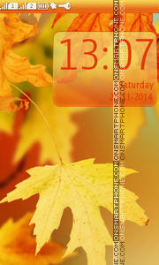 Yellow Autumn Leaves theme screenshot