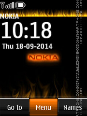 Nokia with Flame Icons theme screenshot