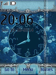 Zodiac Clock 03 theme screenshot