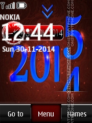 2015 Digital Clock theme screenshot