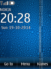 Drops Blue theme screenshot