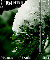 Green & Snow theme screenshot