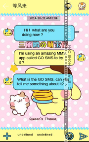 Скриншот темы Love Cookies GO SMS THEME