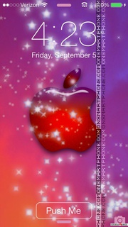 Mist Winter Apple Logo tema screenshot
