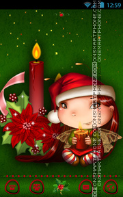 Merry Christmas tema screenshot