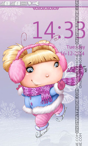 Happy Winter tema screenshot
